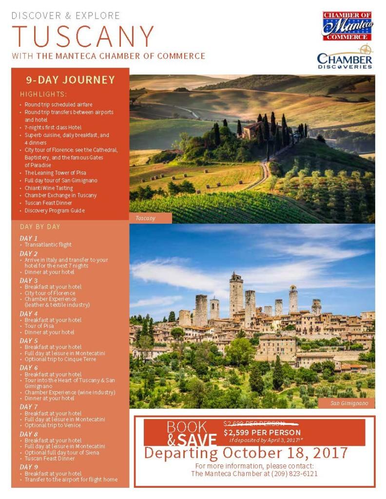 CD - Tuscany - Quick Flyer - Manteca - 2017