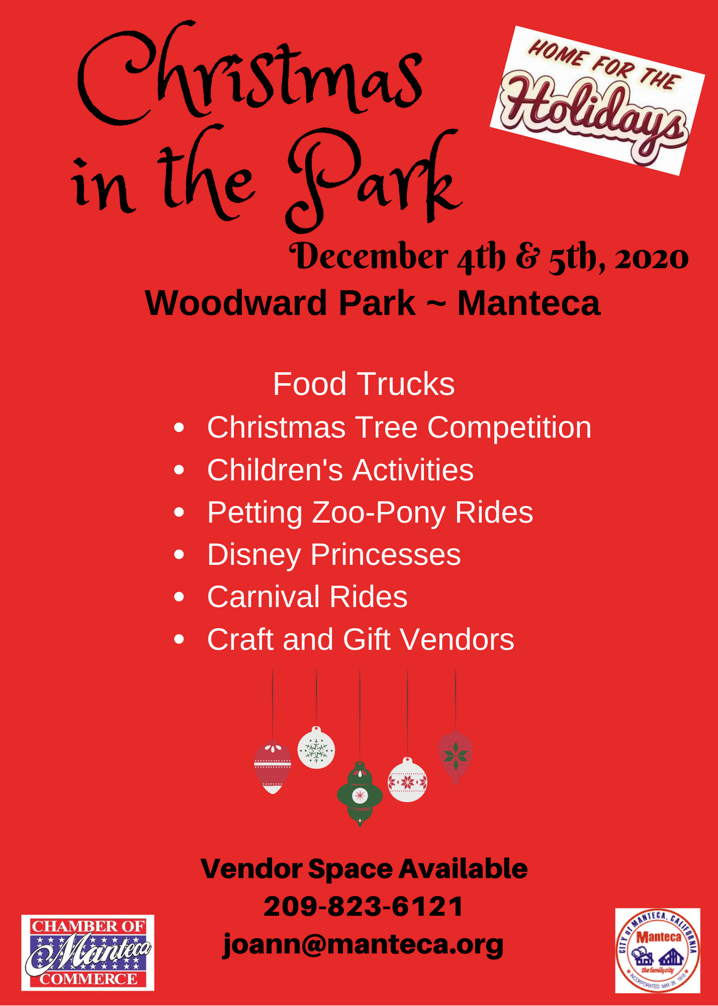 Christmas In The Park 2020 Dates 2020 Christmas in the Park | Manteca Chamber of Commerce